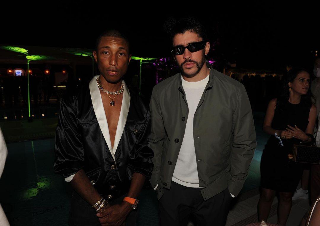 Pharrell y Bad Bunddy. Courtesy Instagram The Goodtime Hotel