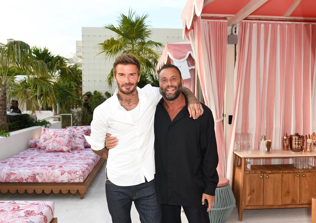 David Beckham y David Grutman. Courtesy Instagram  The Goodtime Hotel