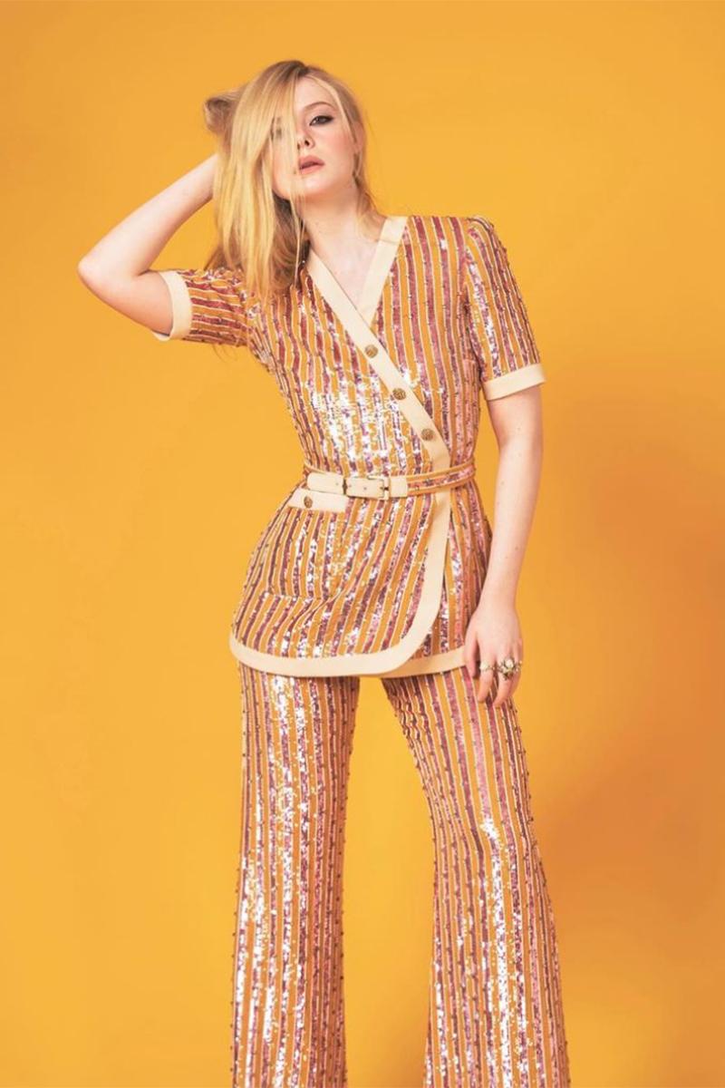 Ellen Fanning apostó a lo diferente esta vez, con una creaciones de túnica y pantalones de Gucci