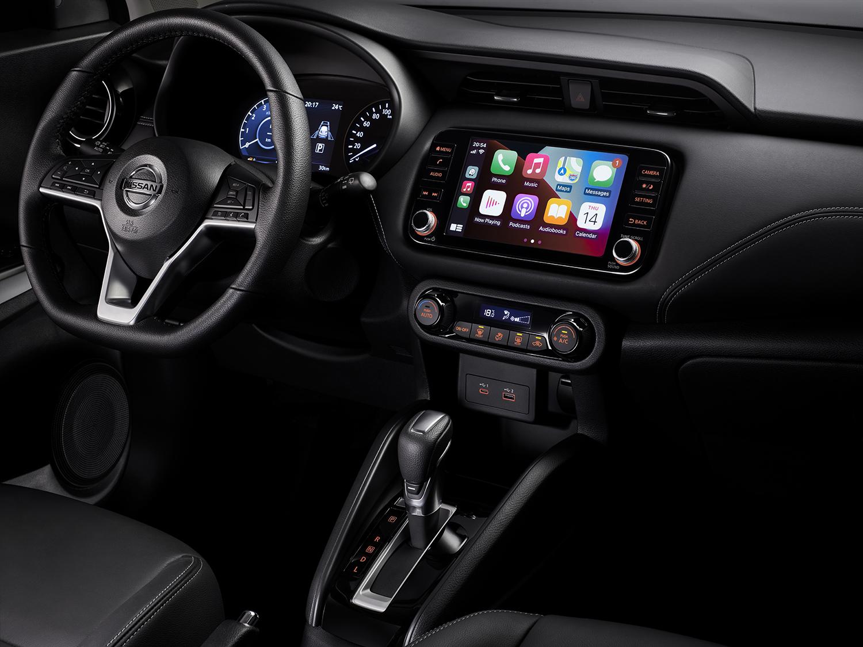 Un área del interior de la nueva Nissan Kicks 2022