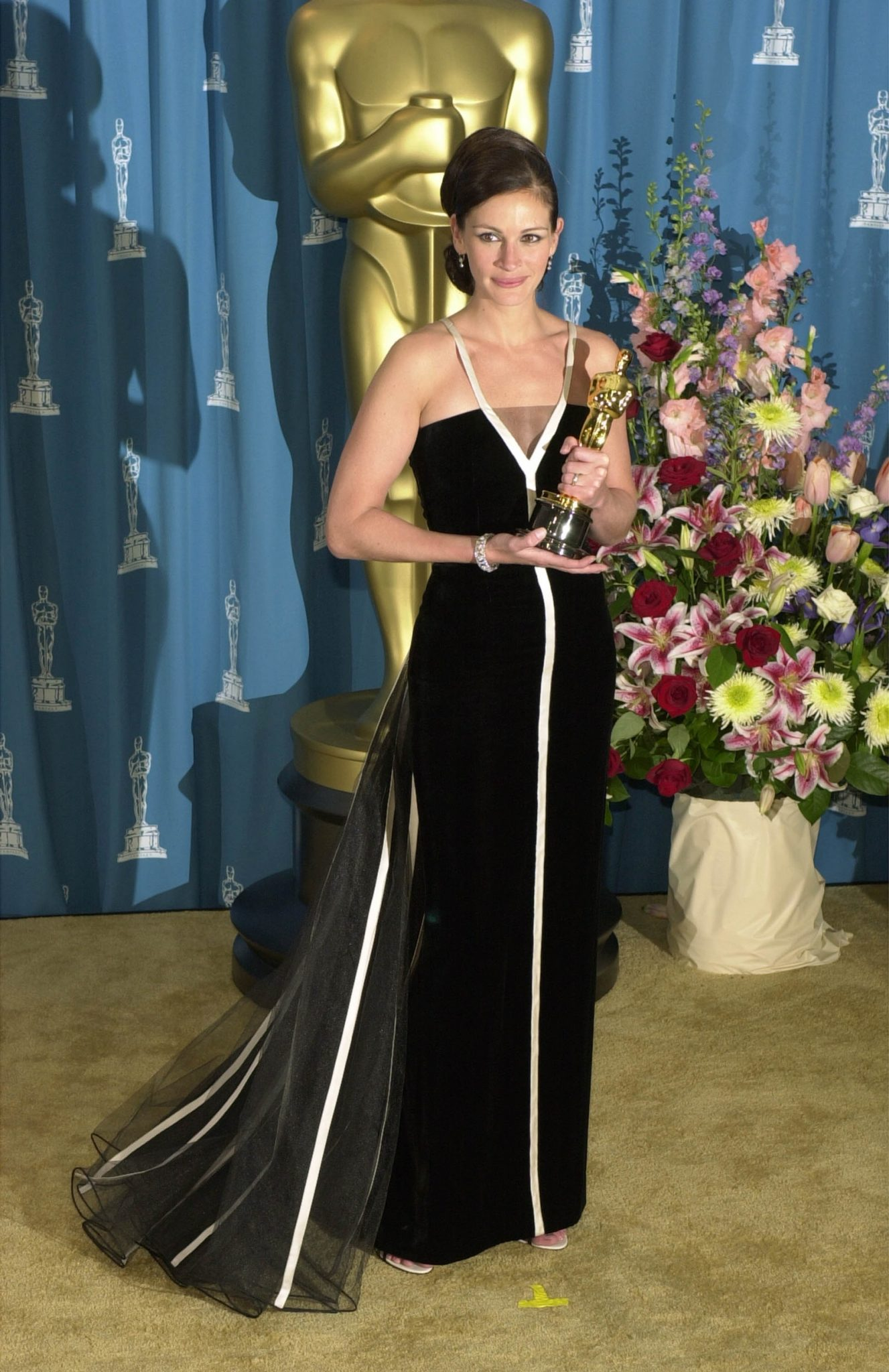 Julia Roberts en vintage Valentino, 2001.