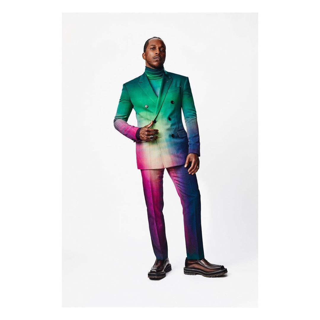 Lamar Odom Jr fue uno de los caballeros que rompió el molde con este suit de Berluti