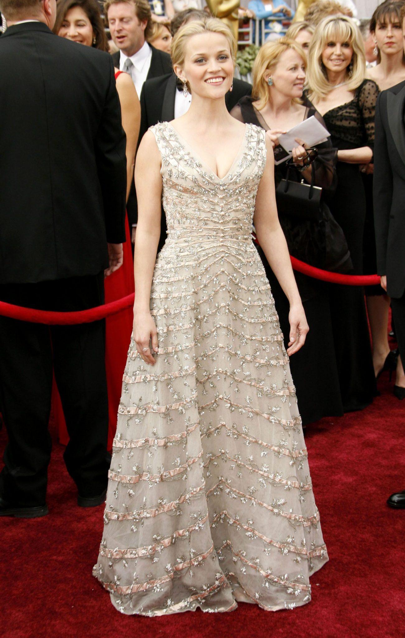 Reese Witherspoon en vintage Dior, 2005.