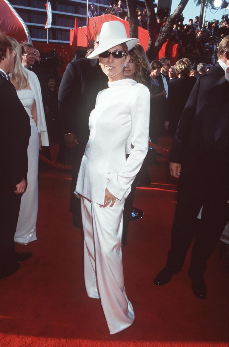 Celine Dion en John Galliano para Christian Dior, 1999.