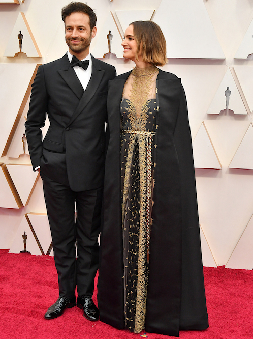 Natalie Portman en Christian Dior, 2020.