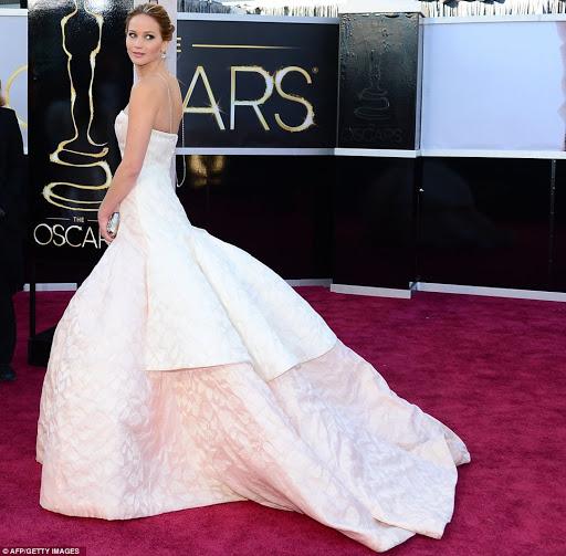 Jennifer Lawrence en Christian Dior, 2013.