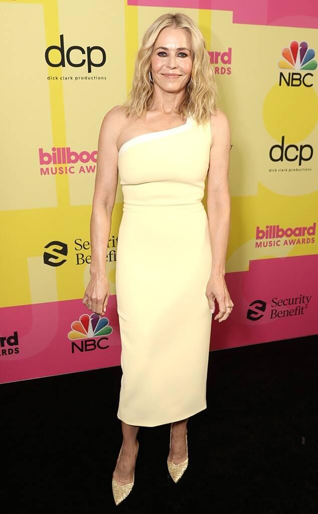 Chelsea Handler vistiendo de Christian Siriano.