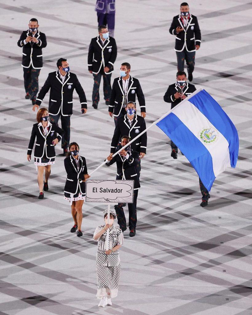 Delegación de El Salvador. Foto cortesía Juegos Olímpicos
