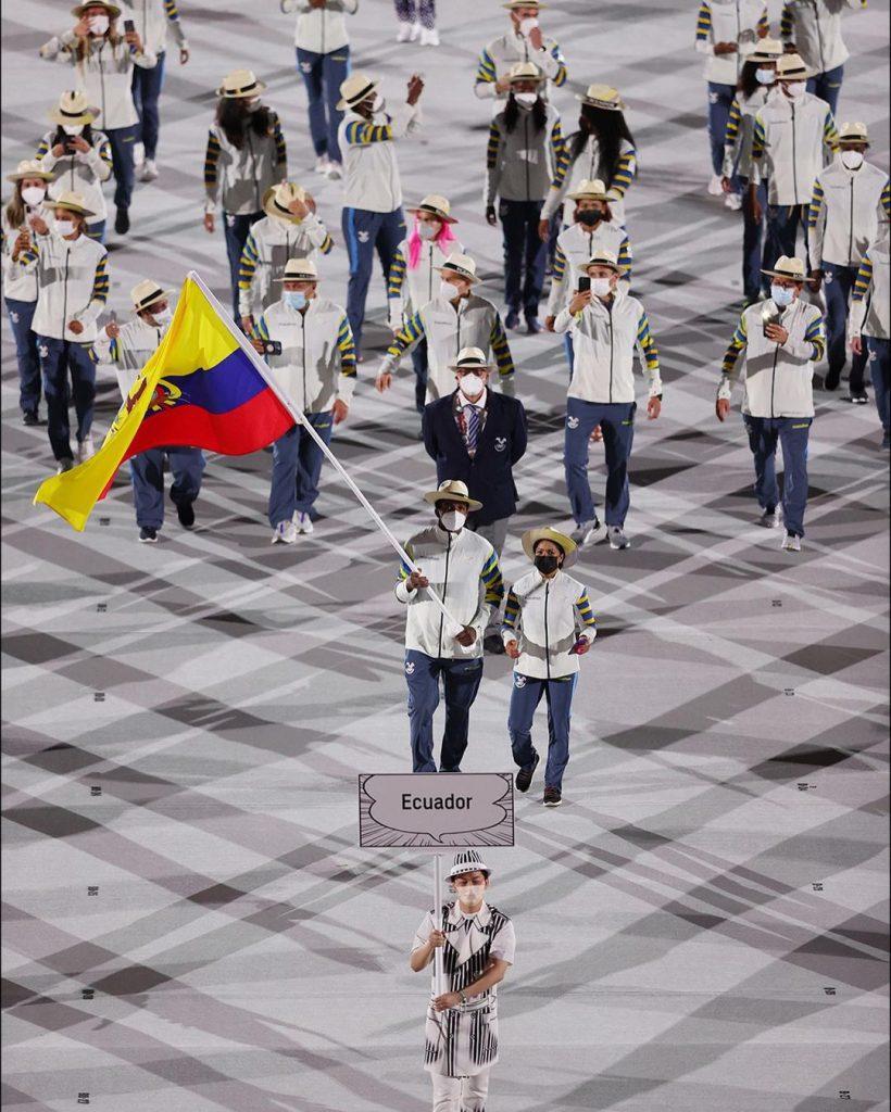 Delegación de Ecuador. Foto cortesía Juegos Olímpicos