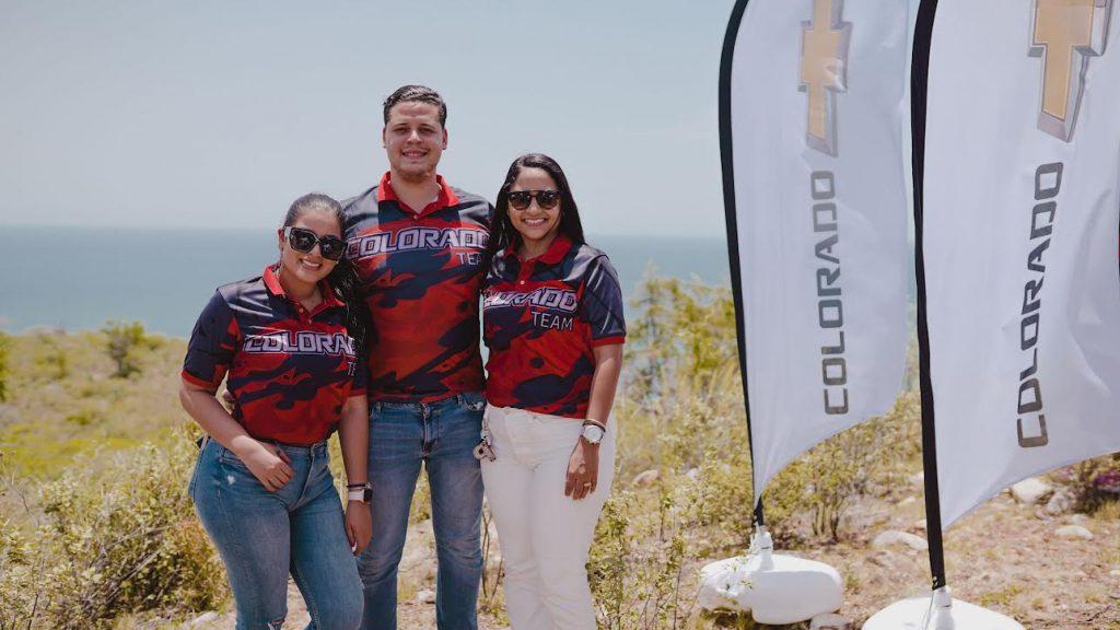 Sheila Taveras, Néstor Arzeno y Pamela Martínez.
