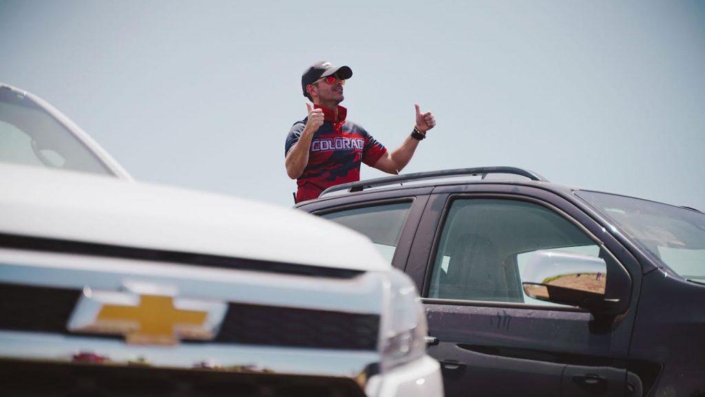 Ricardo Torres en el Driving Experience Chevrolet Colorado