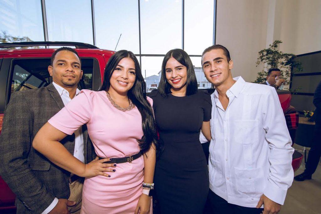 Haniel Rodríguez, Sheyla Taveras, Diana Popoteur y Arnaldo Pérez.