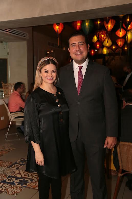 Catherine Lemoine y Jorge Feliz Pacheco